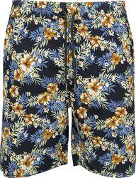 Pattern Resort Shorts - Hibiscus