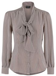 Madeline 40's Style Houndstooth Blouse