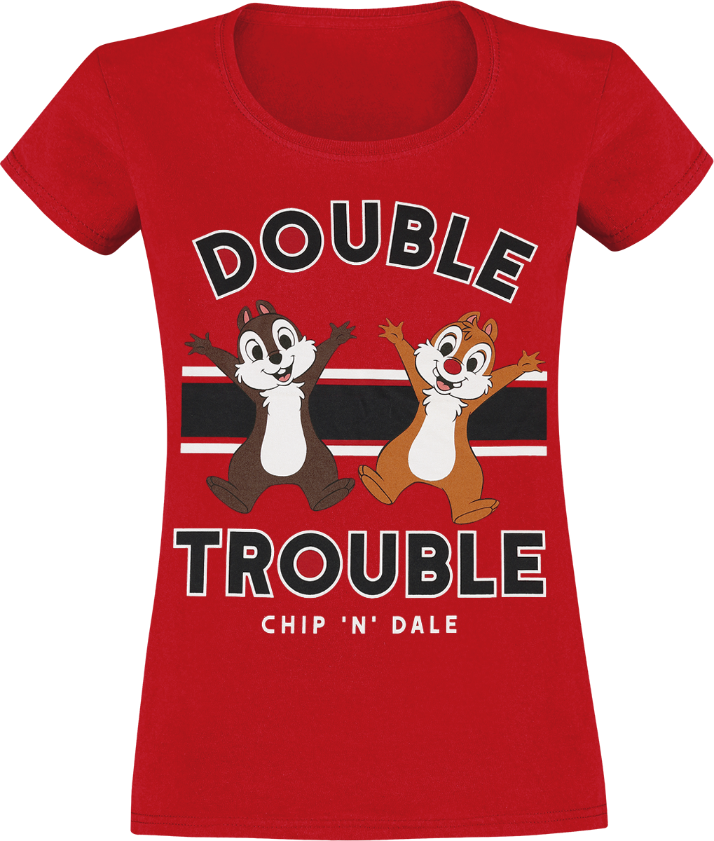 Chip & Chap - Double Trouble - Girls shirt - red image
