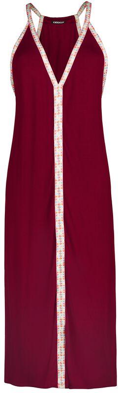 RED X CHIEMSEE - rotes Kleid mit bunten Trägern