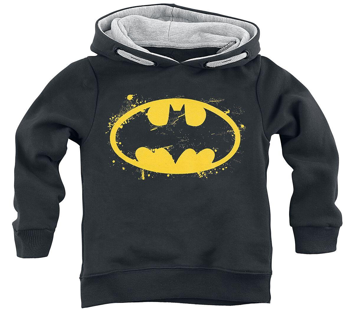 Image of Batman Spray Logo Felpa con cappuccio bimbo nero