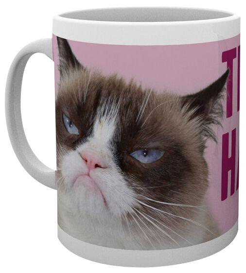 Grumpy Cat Happy Face Tasse weiß MG1450