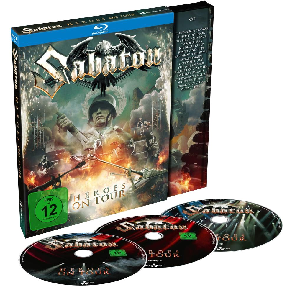 Image of Sabaton Heroes on tour 2-Blu-ray & CD Standard