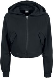 Ladies Short Worker Zip Hoody