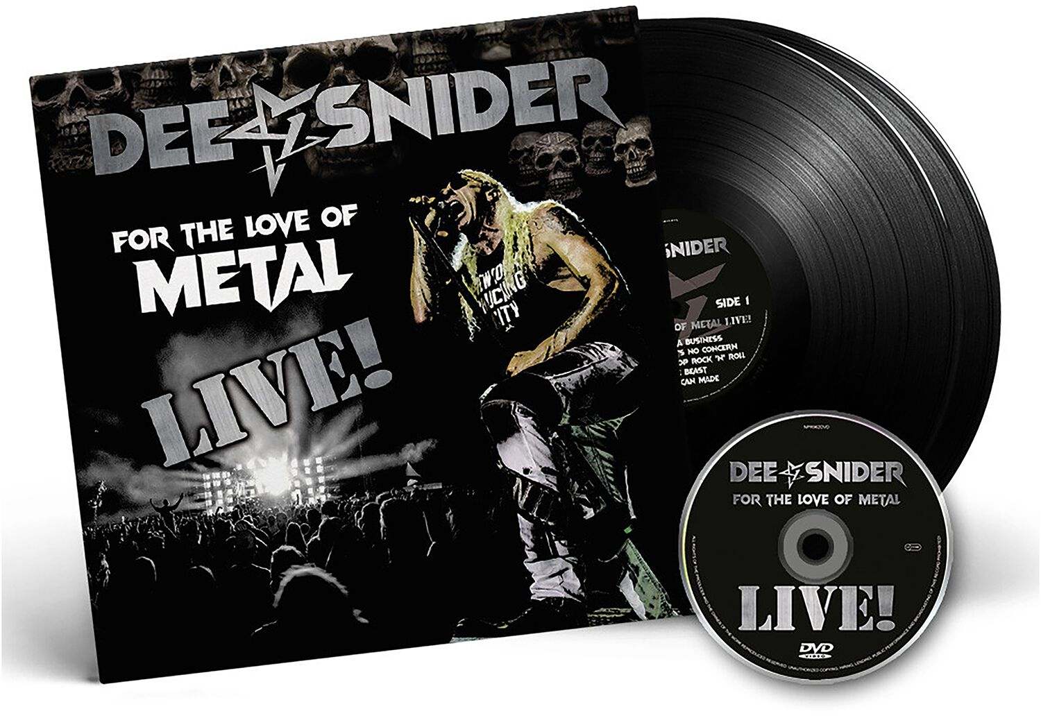 Image of Snider, Dee For the love of Metal - Live 2-LP & DVD Standard