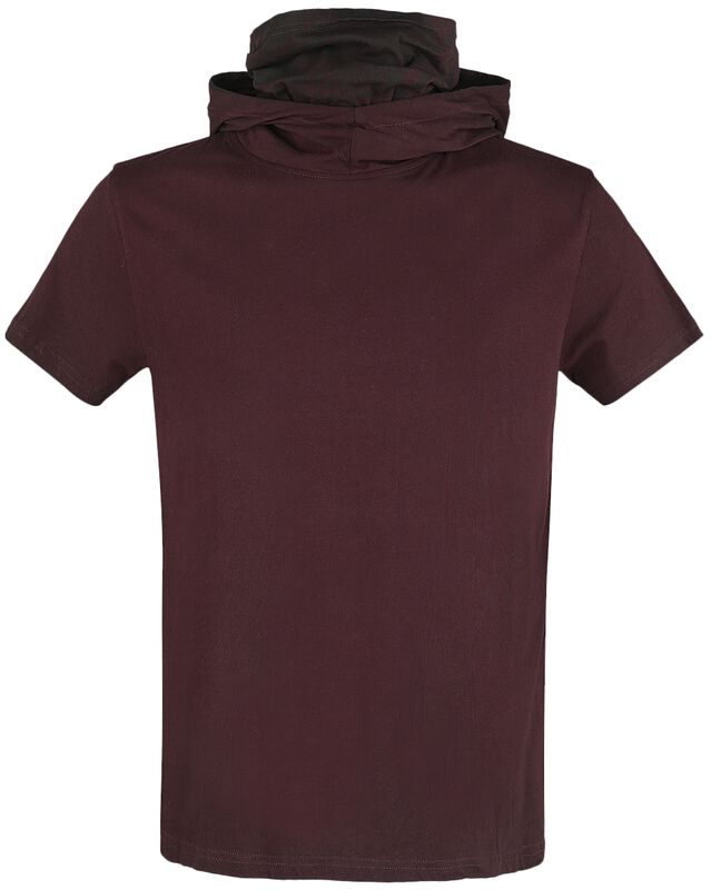 T-Shirt mit Kapuze und multifunktionalem Turtleneck