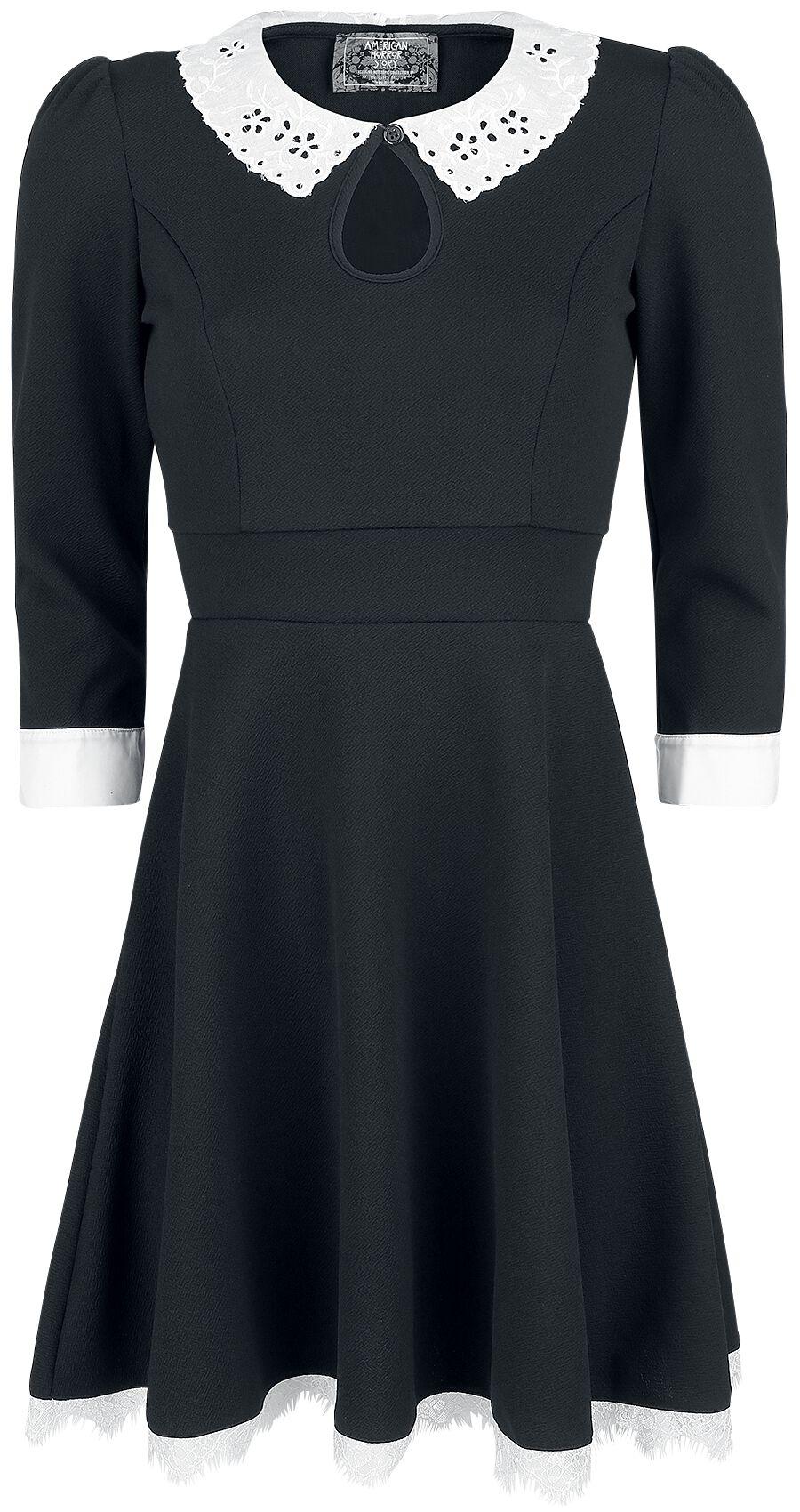 Image of American Horror Story Moira O'Hara - Cosplay Kleid schwarz/weiß