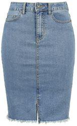 Be Lexi HW MB Pencil Denim Skirt