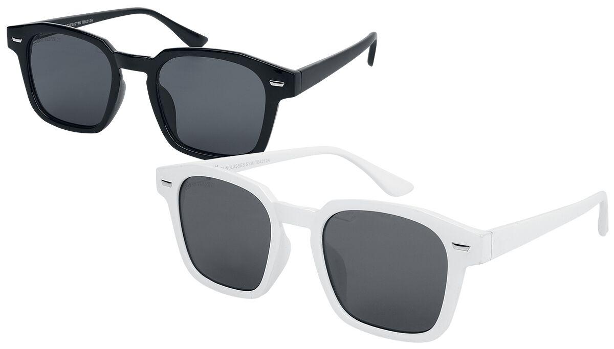 Urban Classics - Symi 2-Pack - Sonnenbrille - schwarz|weiß