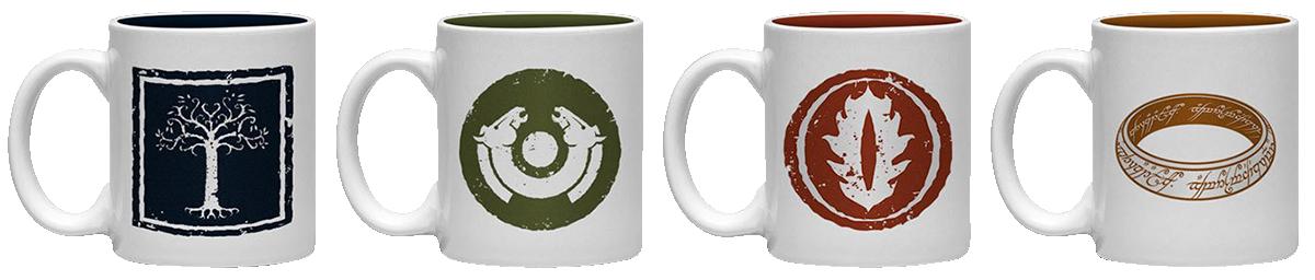 Der Herr der Ringe - Symbole - Expresso Tassen Set - Tassen-Set - multicolor