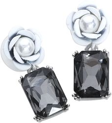 Goth Rose Earrings
