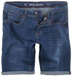 Regular Fit Denim Shorts Spray Blue