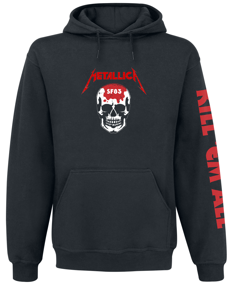 Metallica - Kill 'Em All - Skull - Hooded sweatshirt - black image