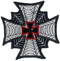 Patch: Eisernes Kreuz mit Spinnennetz