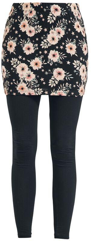 2 in 1: Leggings und Rock mit floralem Muster