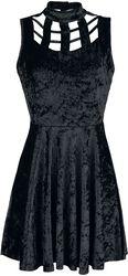 Veleveteen Dream Caged Neck Mini Dress