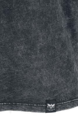 Langarmshirt mit V-Ausschnitt und Waschung