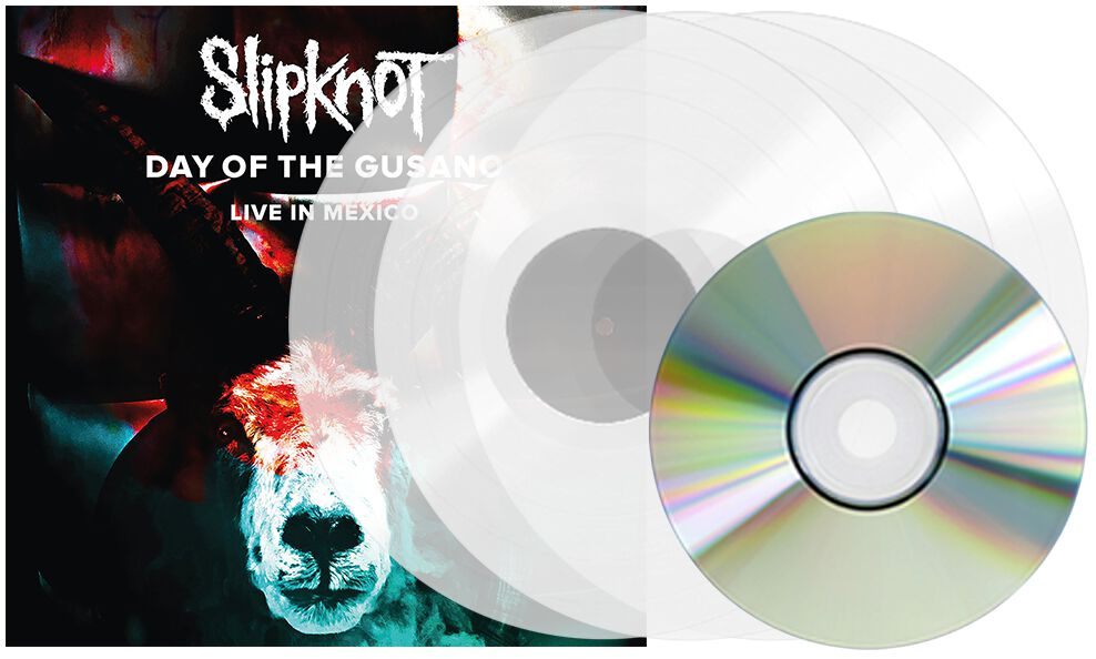 Image of Slipknot Day of the Gusano - Knotfest Live in Mexico 3-LP & DVD klar