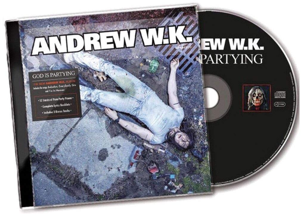 Image of Andrew W.K. God is partying CD Standard