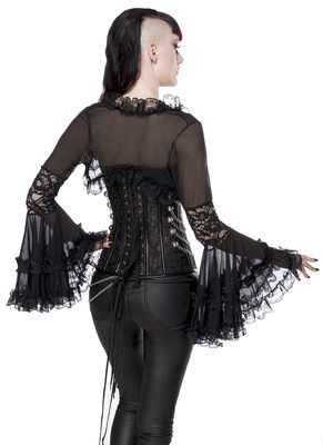 Gothic-Bolero mit Spitze