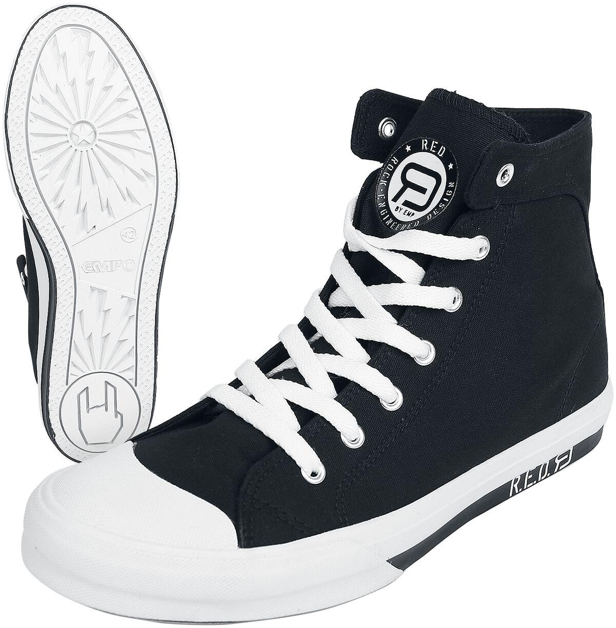 Sneakers für Frauen - RED by EMP Walk The Line Sneaker schwarz weiß  - Onlineshop EMP