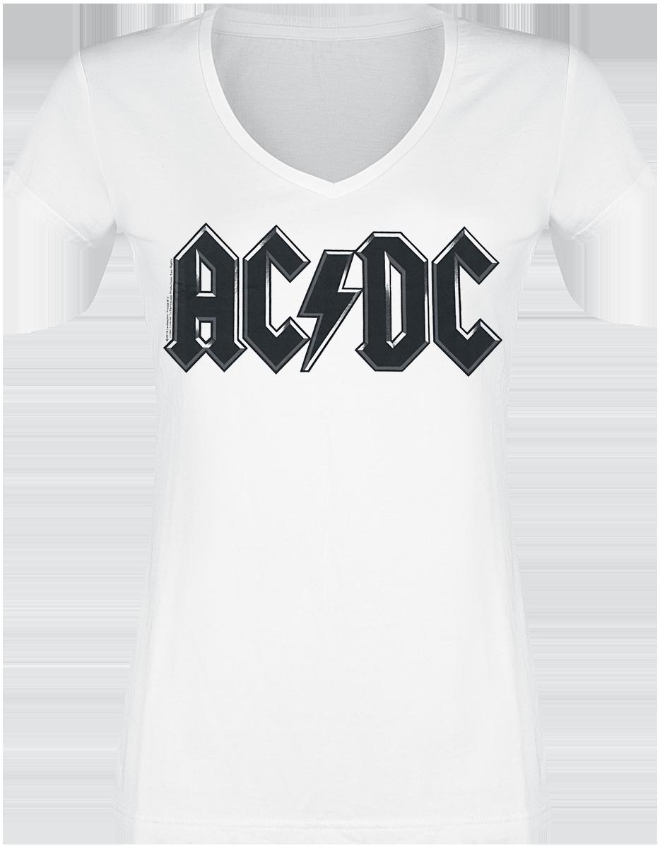 AC/DC - Logo - Black - Girls shirt - white image