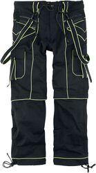 Nick - Schwarze Hose mit neonfarbenen Details