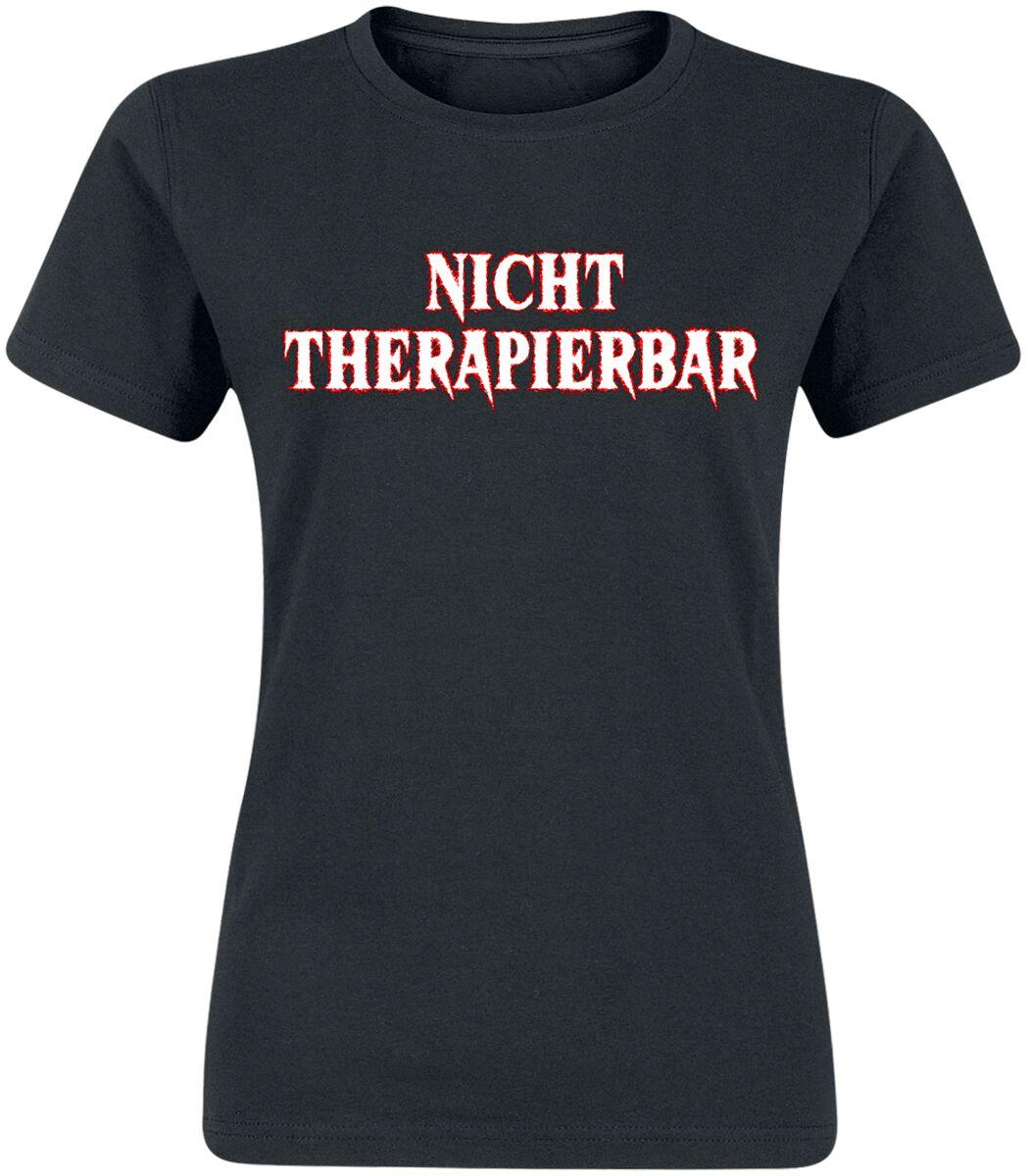 Nicht therapierbar T-Shirt schwarz POD - BY086