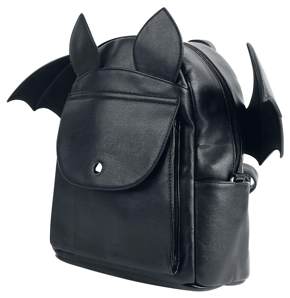 Banned Alternative Fledermaus Mini-Rucksack schwarz BG7148