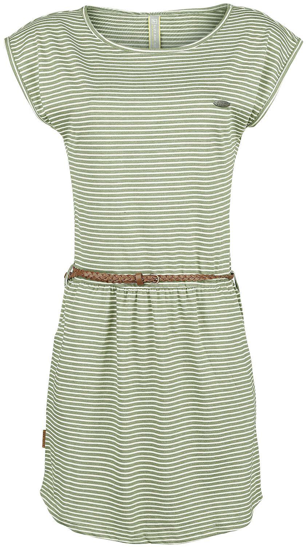 Kleider für Frauen - Alife and Kickin Thea Dress Kleid oliv weiß  - Onlineshop EMP