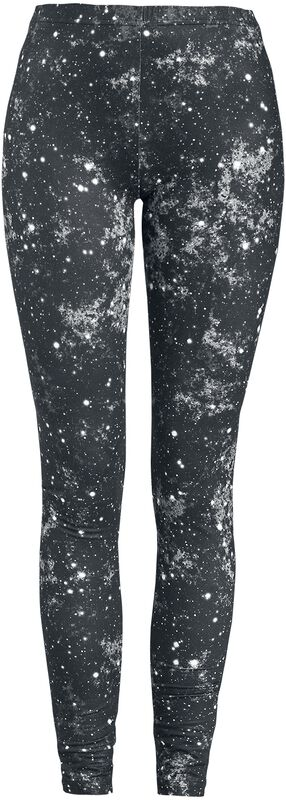 Schwarze Leggings mit Galaxy-Print