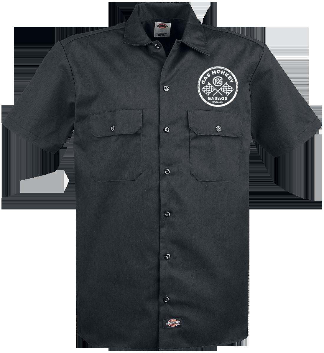 Gas Monkey Garage - Custom Motors Dickies Worker Shirt - Workershirt - black image