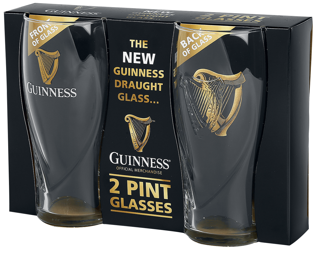 Guinness - Guinness Logo - Pint-Glas - klar