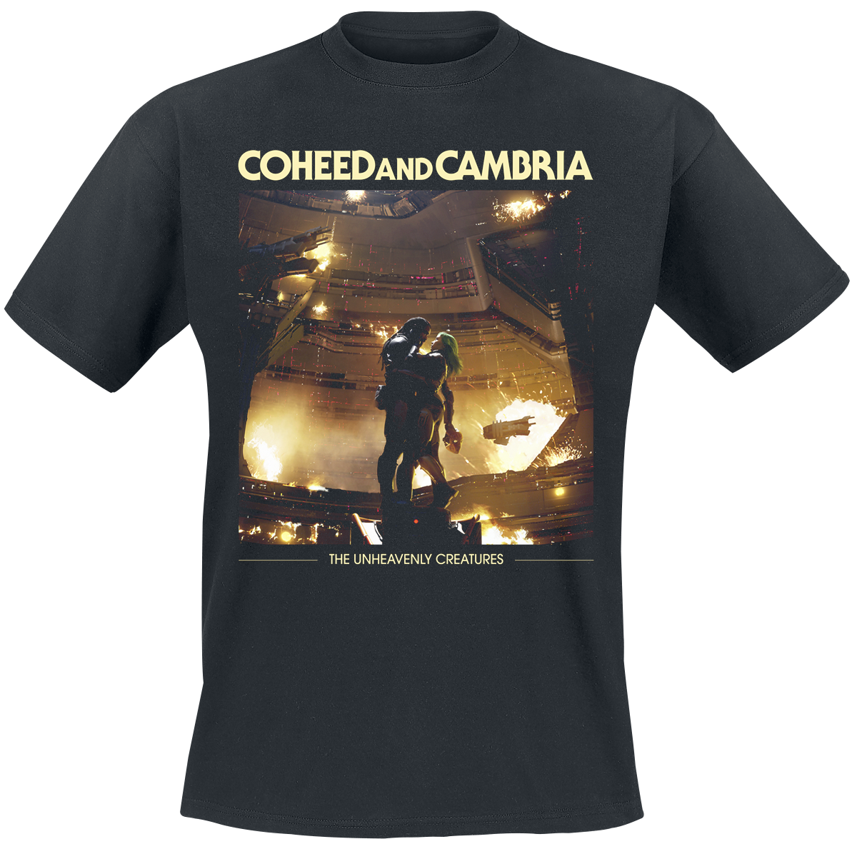 Coheed And Cambria - Unheavenly Cover - T-Shirt - black image