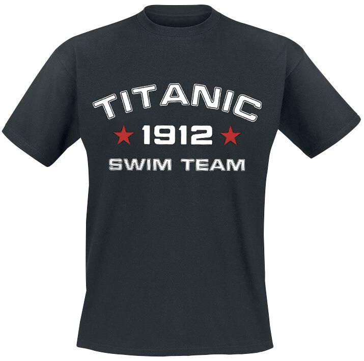 Fanprodukter Titanic Swim Team  T-skjorte svart