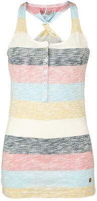 Striped Twisted Backpart Top