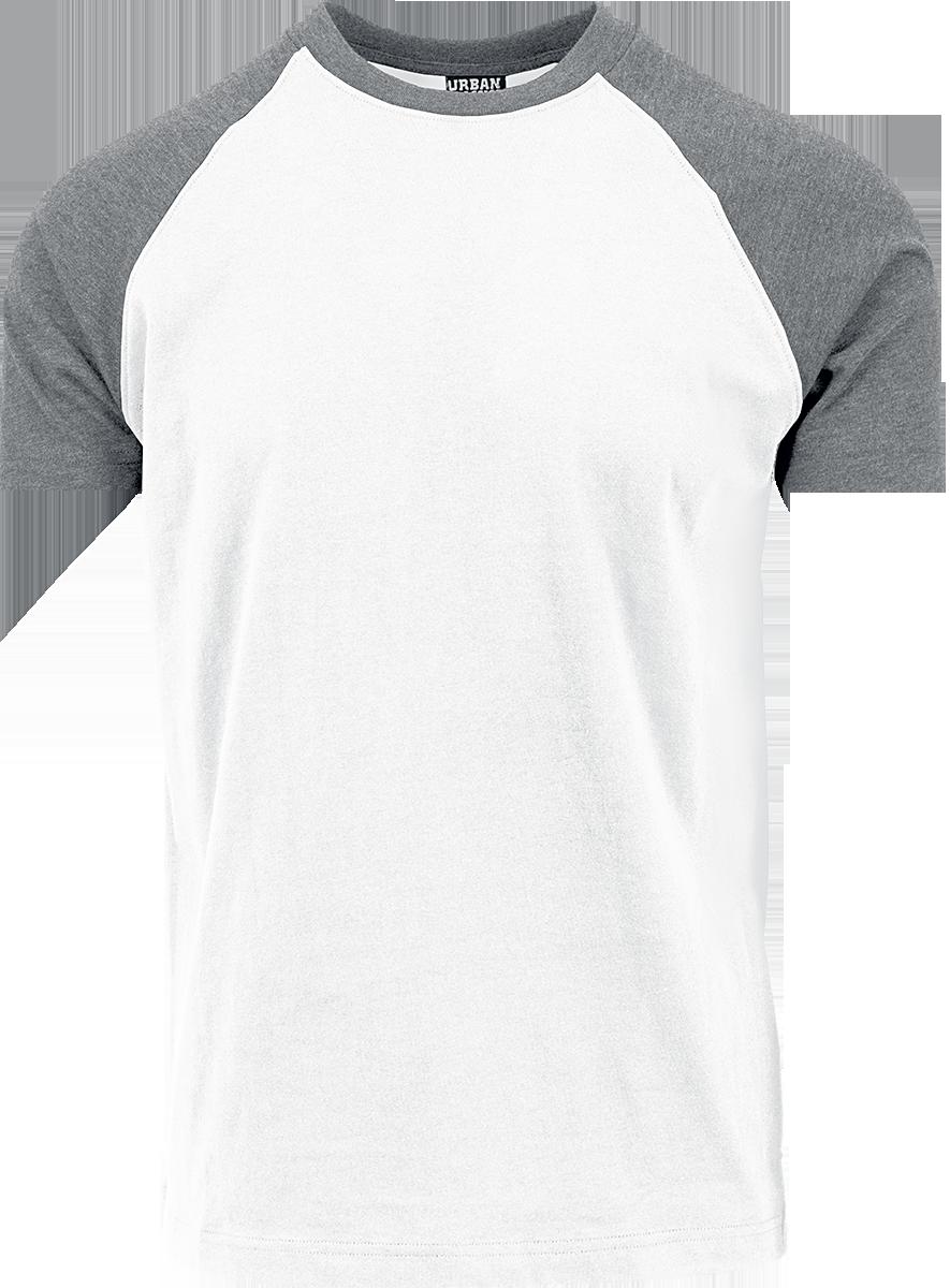 Urban Classics - Raglan Contrast Tee - T-Shirt - weiß| grau