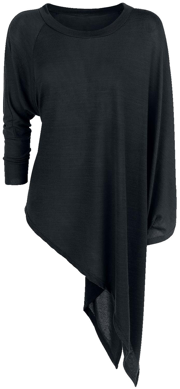 Forplay - Knitted Asymmetric Sweater - Girls sweatshirt - black image