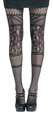 Pannelled Lace Tights