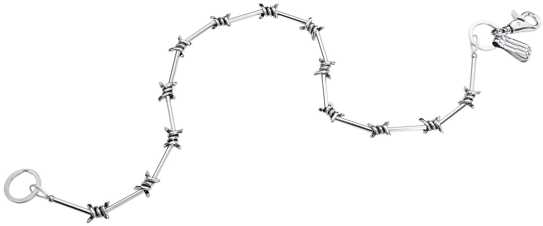 Image of etNox Stacheldraht Geldbörsenkette Chain silberfarben