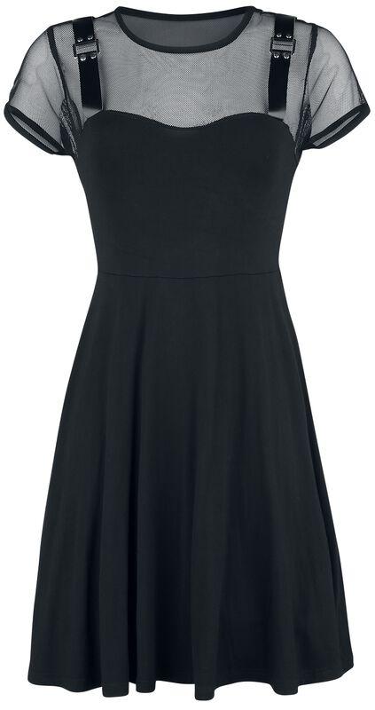 Kleid mit Mesh-Einsatz und Bondage-Details