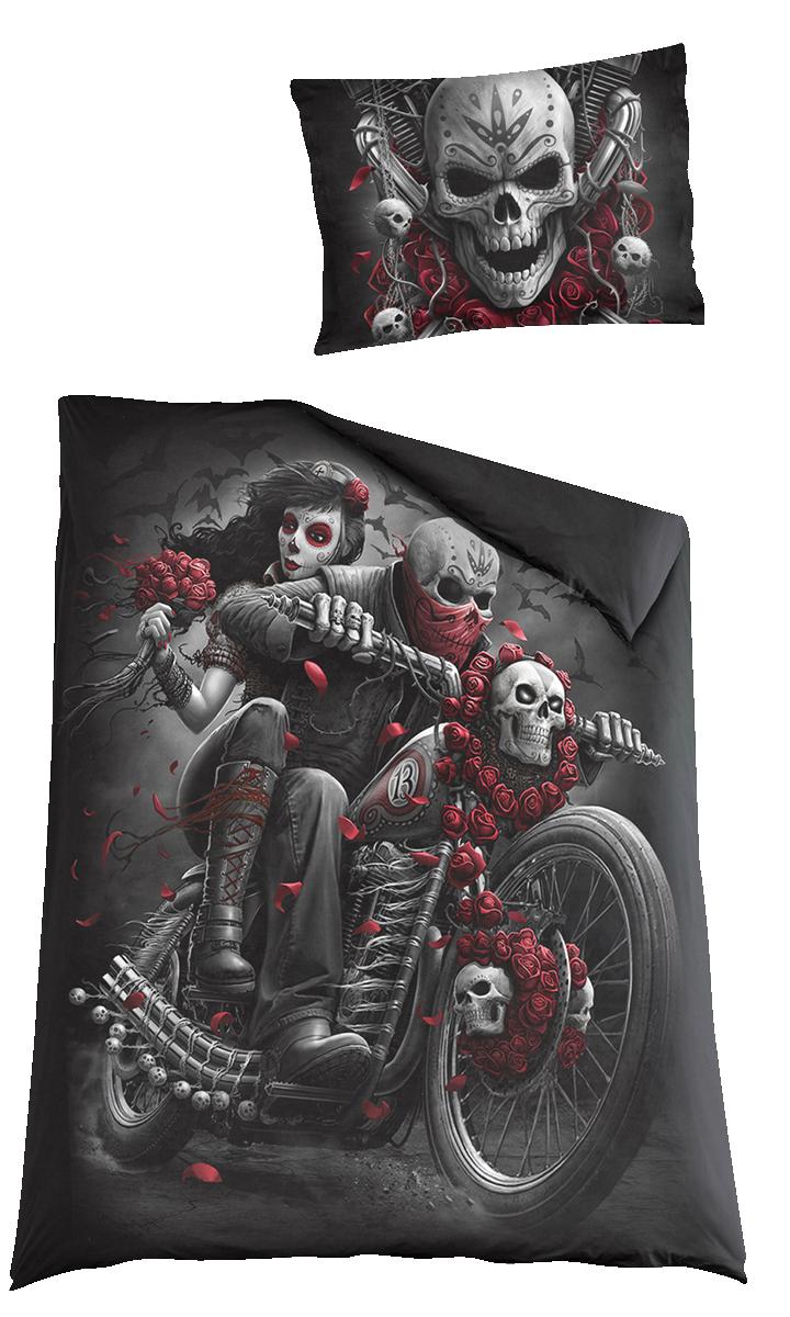 Spiral - Skull N' Roses - Bettwäsche - multicolor