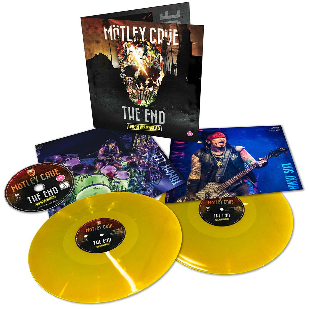 Image of Mötley Crüe The End - Live in Los Angeles 2-LP & DVD gelb