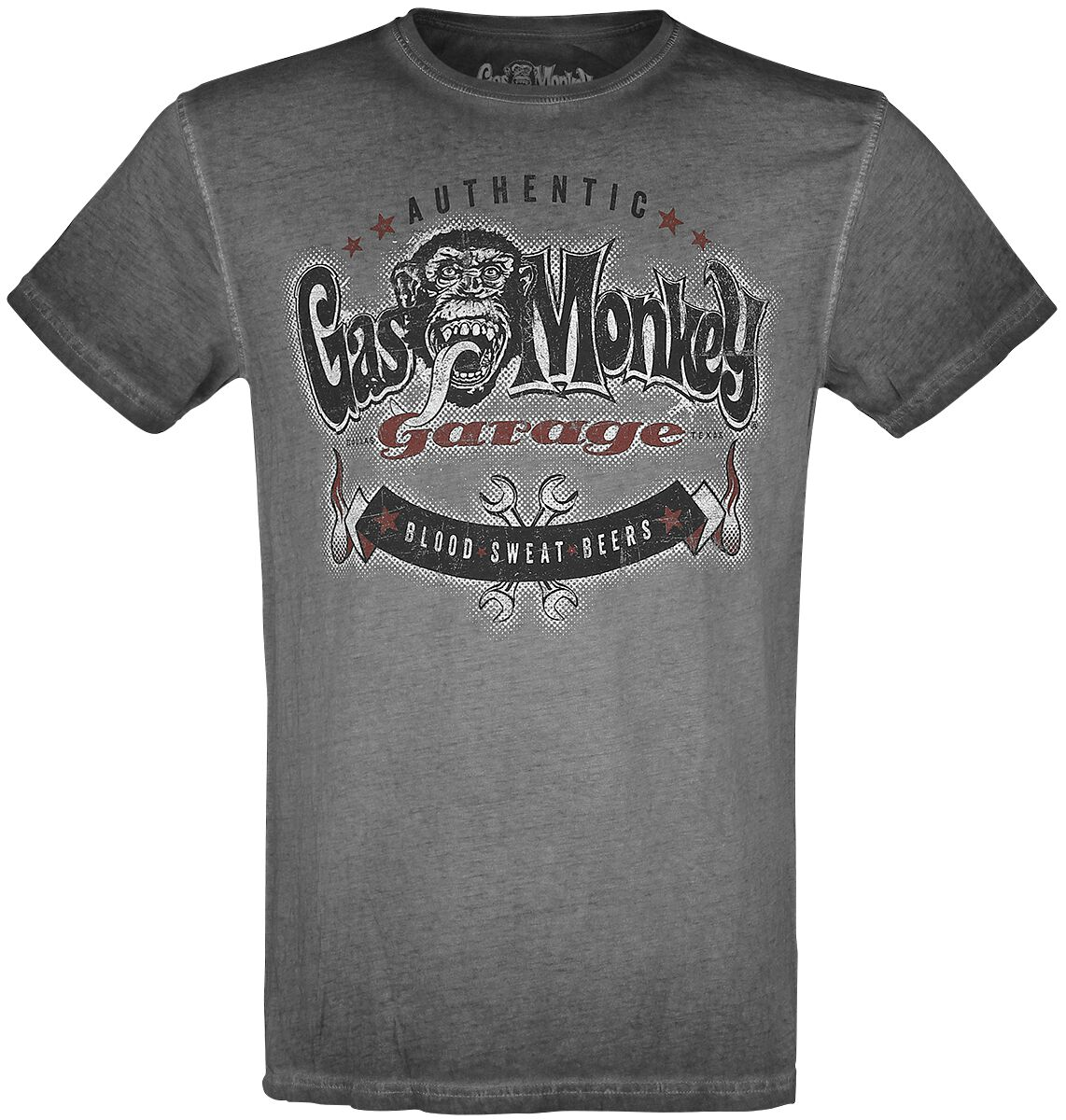 Gas Monkey Garage Blood, Sweat, Beers!  T-Shirt  grau
