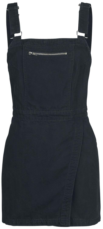 Forplay Latzwickelkleid Kurzes Kleid schwarz 3-17-2280