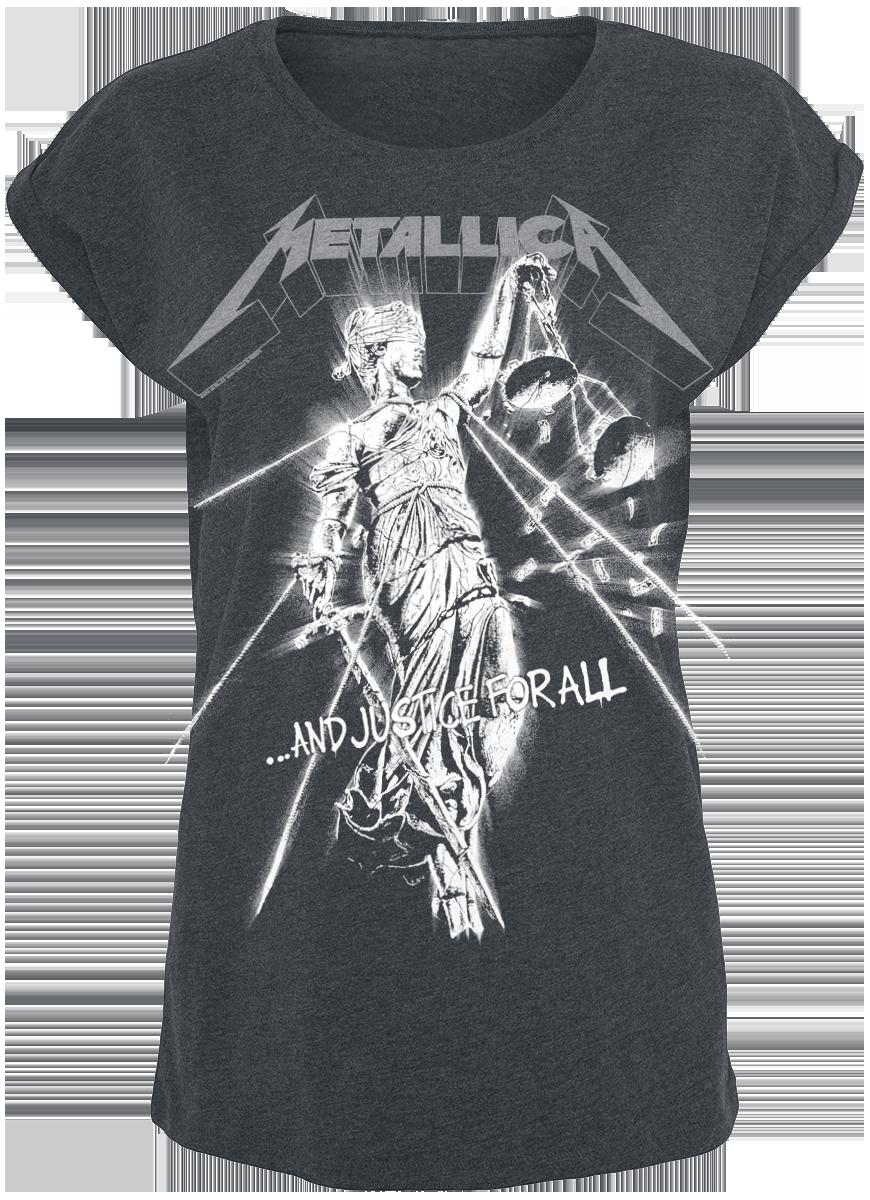 Metallica - Raining Light - Girls shirt - grey image