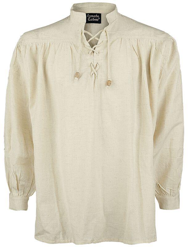 Mittelalter-Stehkragen-Schnürhemd