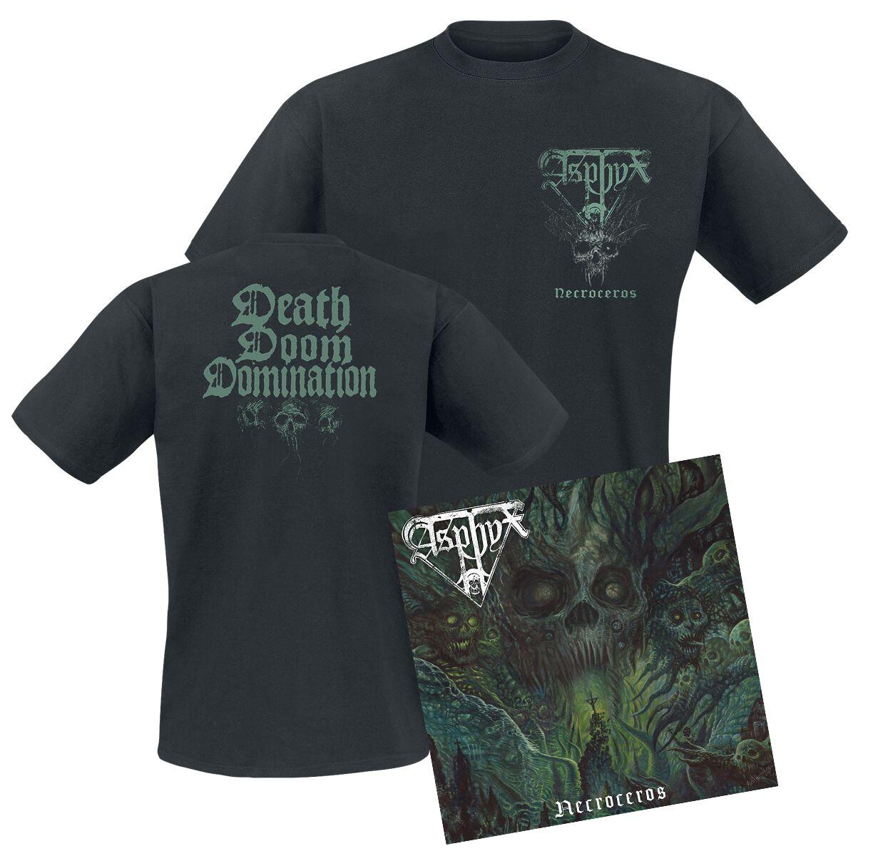 Image of Asphyx Necroceros CD & DVD & T-Shirt Standard