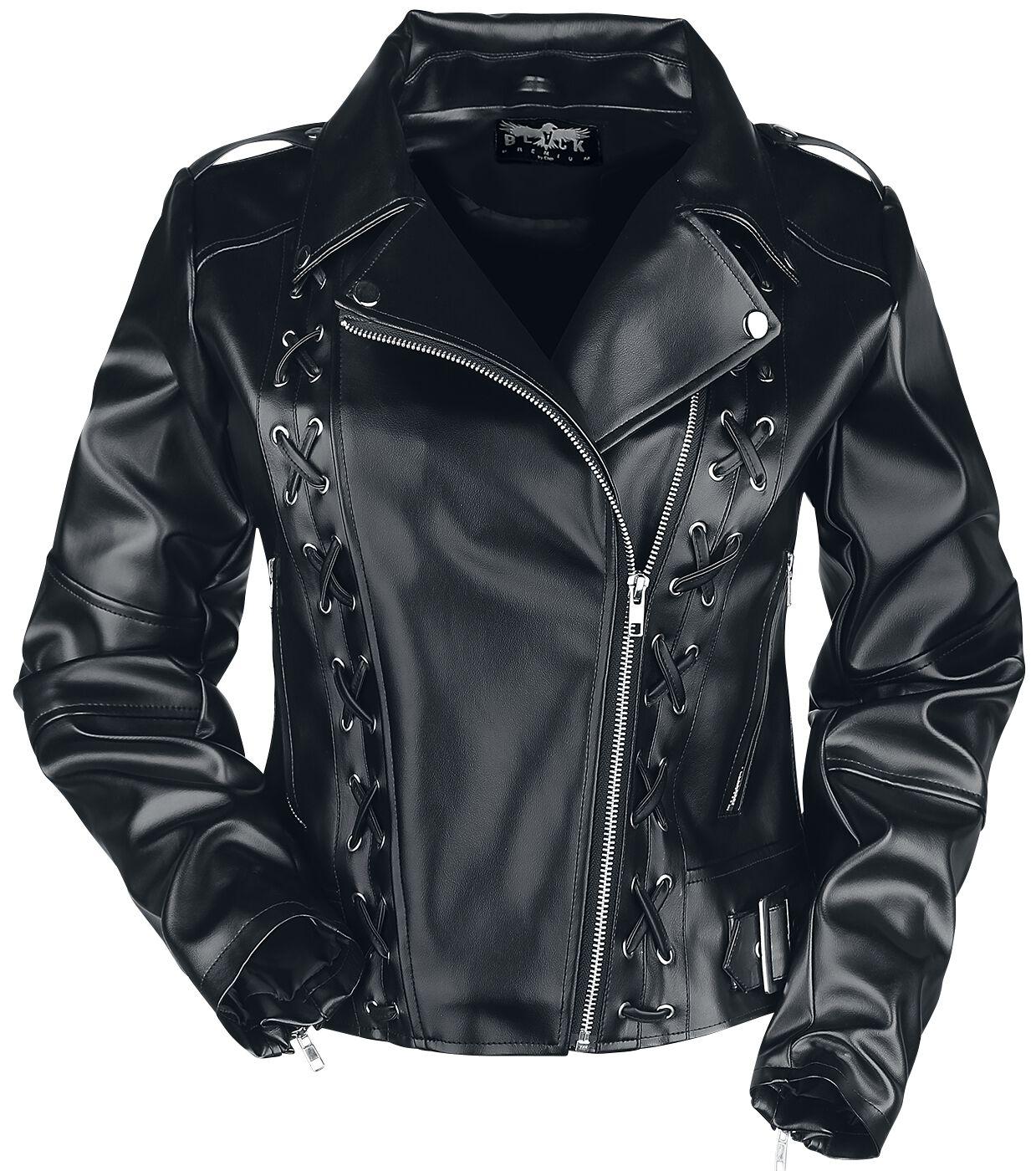 Jacken für Frauen - Black Premium by EMP All Over The Road Kunstlederjacke schwarz  - Onlineshop EMP