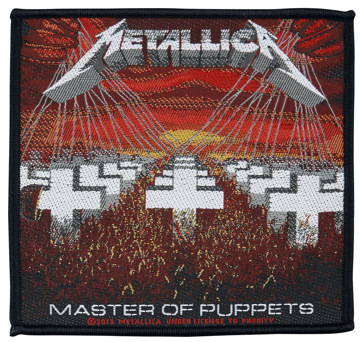 Metallica  Master Of Puppets  Patch  multicolor
